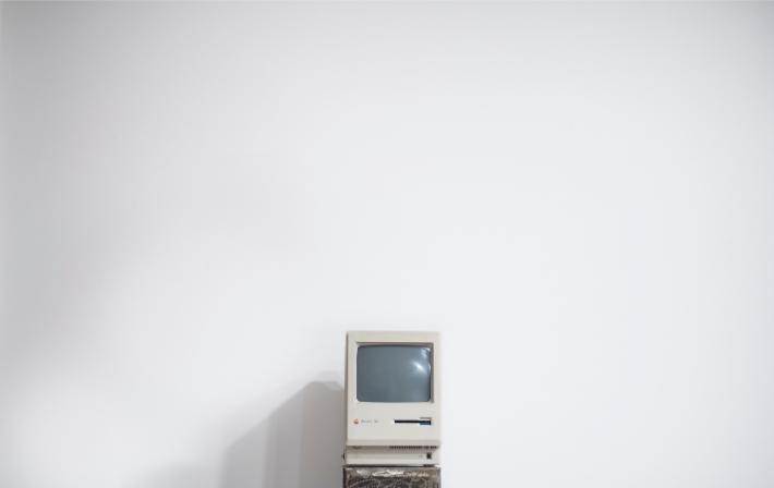 Ordenador antiguo, como los sistemas informáticos anticuados que sufrieron el ataque de ransomware WannaCry