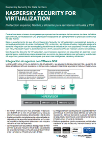 Kaspersky Security for Virtualization - Hoja de datos de la solución