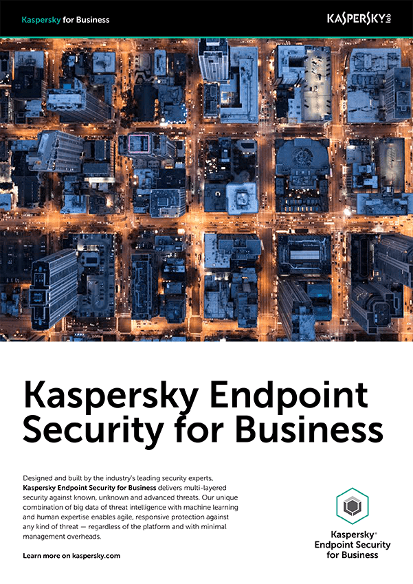 KASPERSKY ENDPOINT SECURITY FOR BUSINESS - HOJA DE DATOS