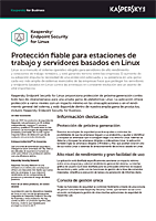KASPERSKY SECURITY FOR LINUX: FICHA DE PRODUCTO