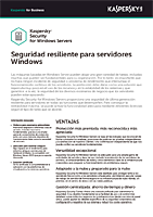 KASPERSKY SECURITY FOR WINDOWS SERVER: FICHA DE PRODUCTO