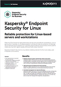 Kaspersky Endpoint Security for Linux: ficha de producto
